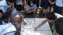 Voluntary teachers in the remote schools surrounding P-WEC